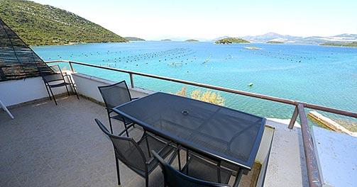 Vue de la terrasse côté mer - Location d'appartements en Croatie - Villa Adria