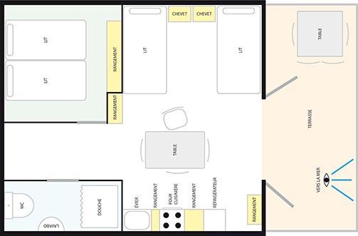 Plan type - Location d'appartements en Croatie - Villa Adria